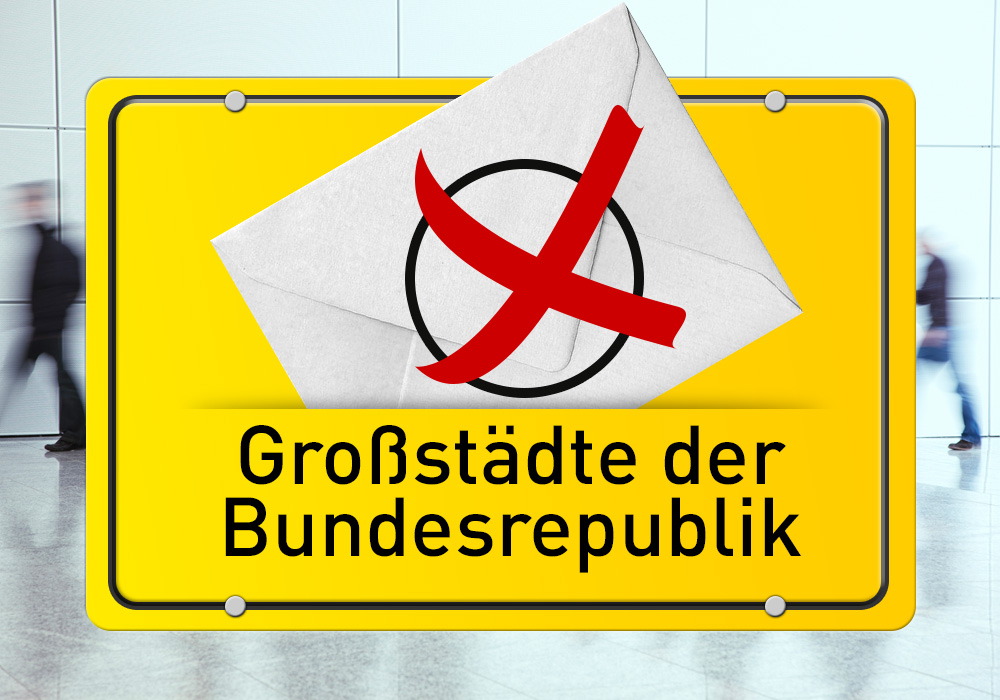 In vielen Großstädten bekommt die CDU keinen Stich