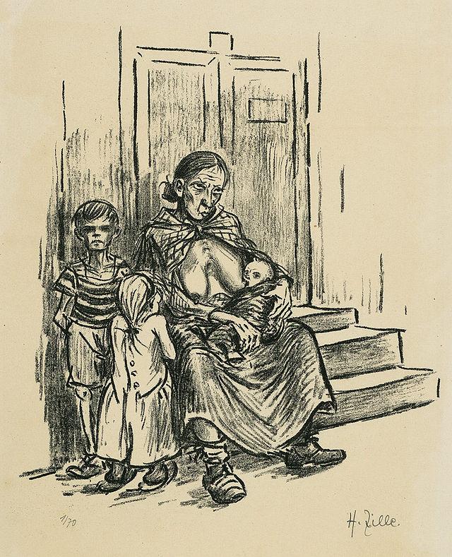 Heinrich Zille - hungerndes Kind