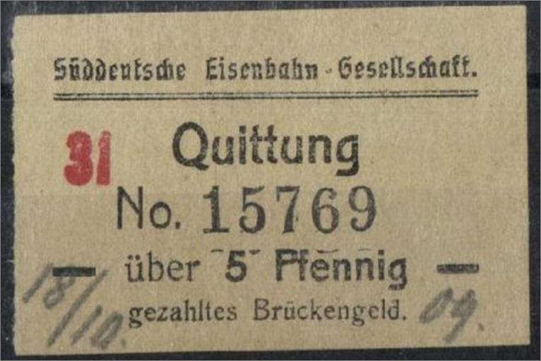 Brückengeld Süddeutsche_Eisenbahn-Gesellschaft