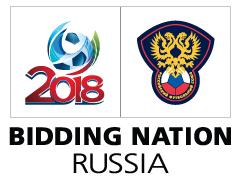 Logo der Bewerbung Russlands zur Fußball-WM 2018