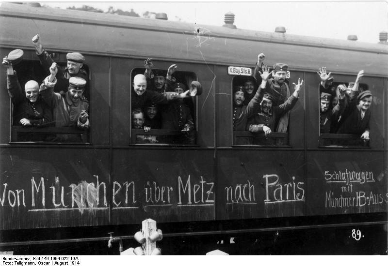 Kriegsbegeisterung 1914 in Deutschland