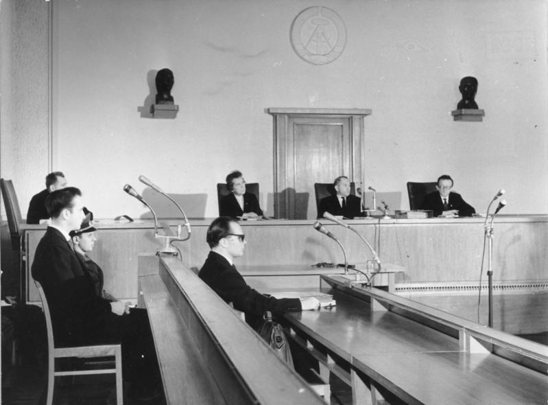 DDR-Schauprozess gegen den Fluchthelfer Harry Seidel, 1962