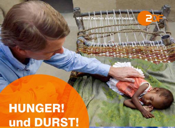 Hunger und Durst, existenzielle Bedrohungen der Menschheit, sind die Themen, die im Mittelpunkt von zwei großen, bildstarken Filmen des ZDF-Autoren-Teams mit Claus Kleber und Angela Andersen bei Arte und im ZDF stehen.
