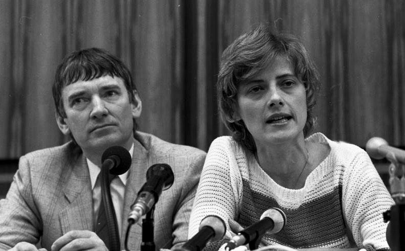Pressekonferenz der Grünen 1983 nach der Bundestagsahl