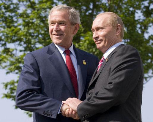 Putin und G.W. Bush