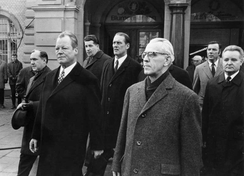 Willy Brandt in Erfurt 1970