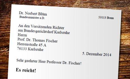 Brief von Dr. Norbert Blüm