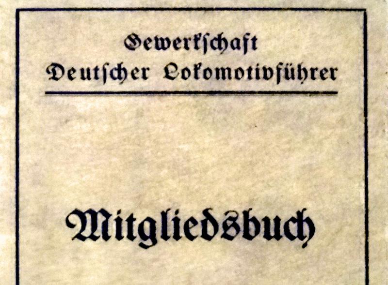 GDL-Mitgliedsbuch