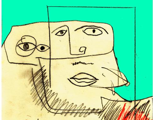 Zeichnung von Gerald Uhlig-Romero