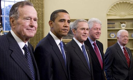 Fünf Präsidenten der USA