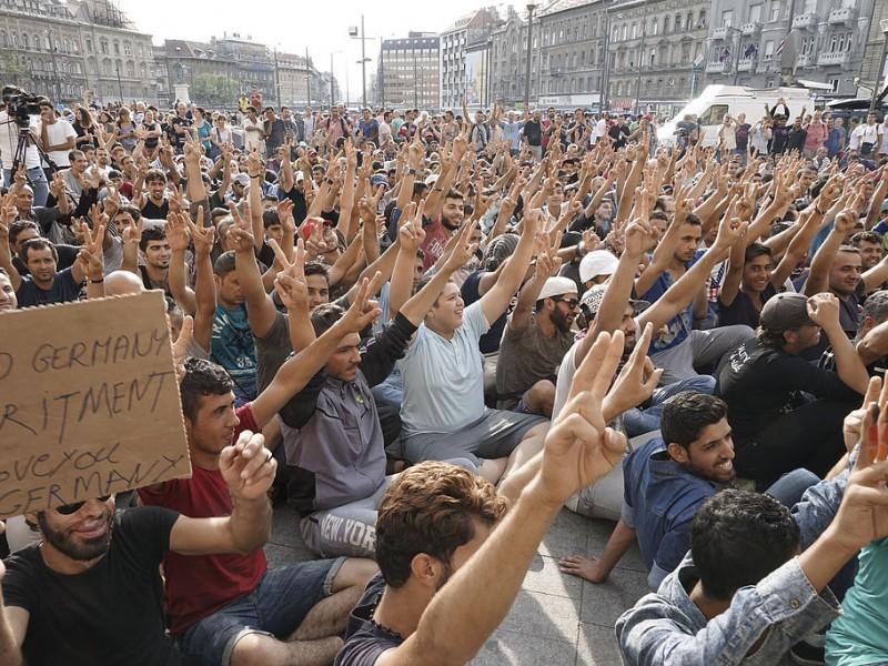 Syrische Flüchtlinge in Budapest