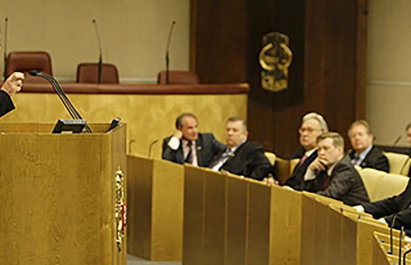Vladimir Putin bei Ansprache