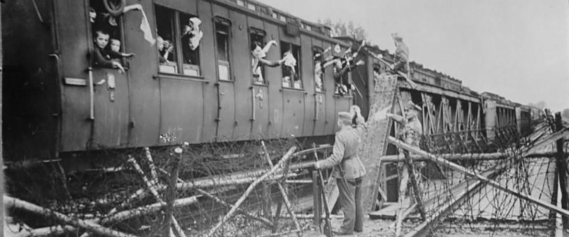 Aus dem Bundesarchiv: Bentschen - Ankunft deutscher Flüchtlinge aus Posen