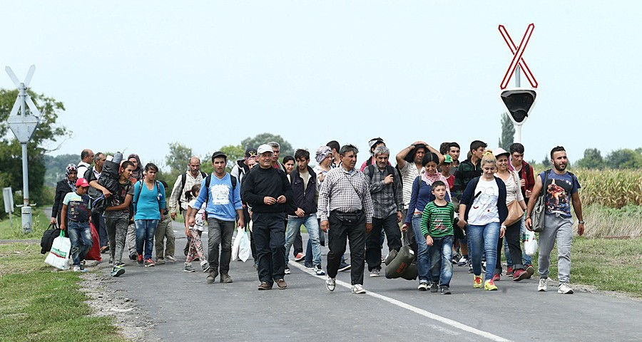Migranten in Ungarn