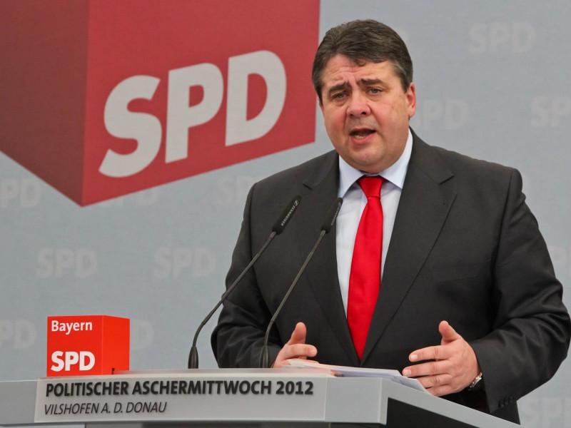 Sigmar Gabriel 2012 beim politischen Aschermittwoch