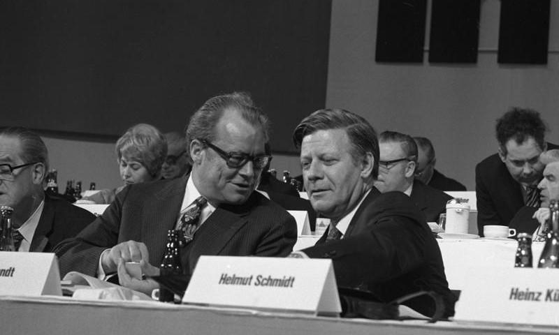 Helmut Schmidt und Willy Brandt