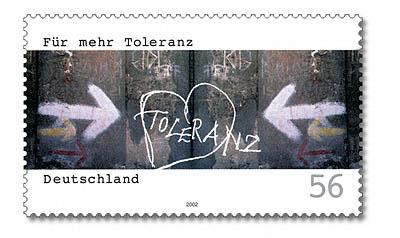 Toleranz Briefmarke