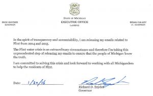 Transparenzinitiative von Gouverneur Snyder