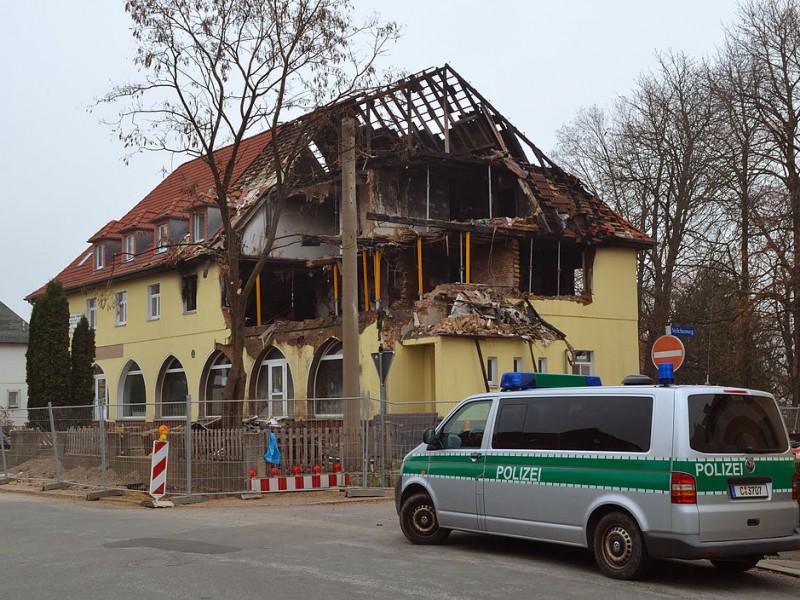 NSU Unterschlupf nach Explosion