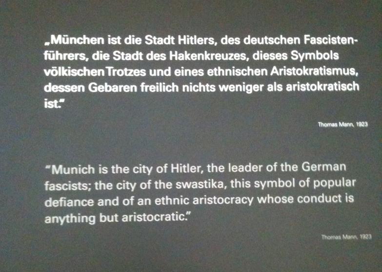 Thomas Mann über München 1923