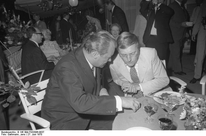 Rudolf Augstein und Willy Brandt 1970