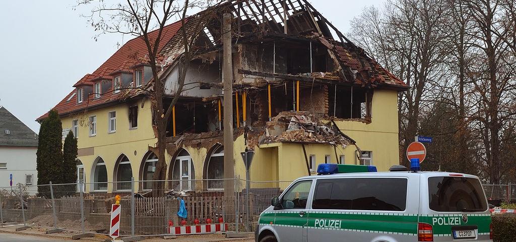 Nationalsozialistischer Untergrund - Haus in Zwickau nach Explosion
