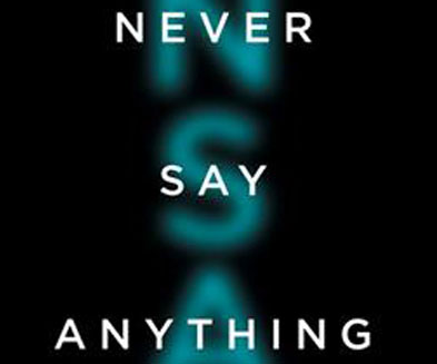 Buchcover Never say anything