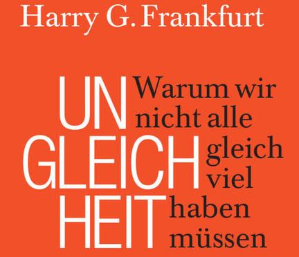 Buch Ungleichheit von Harry G. Frankfurt. Bildrechte: Suhrkamp Verlag