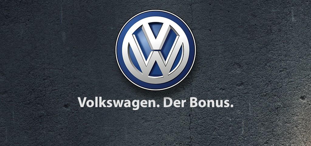 Volkswagen. Der Bonus - Ein neuer Slogan?