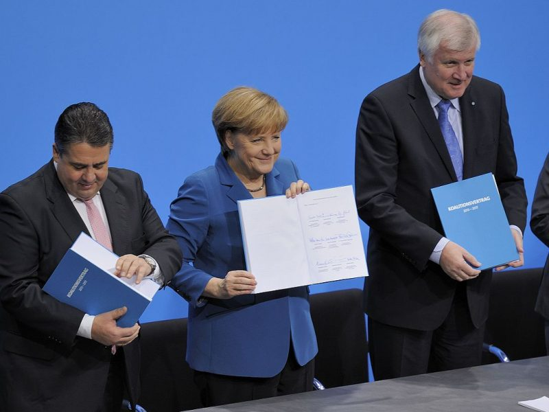 GroKo nach Unterzecihnung des Koalitionsvertrages
