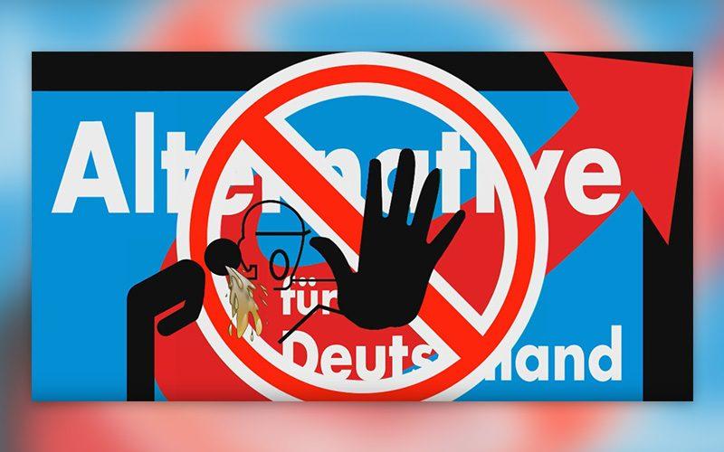 Anti AfD Plakatatierung