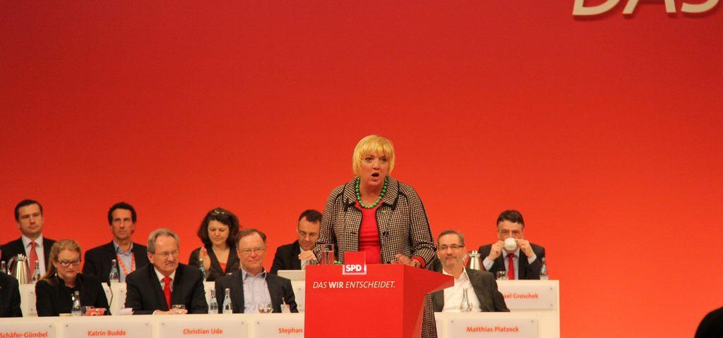 Claudia Roth auf dem SPD-Parteitag