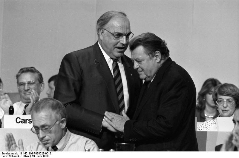 Franz-Josef Straß und Helmut Kohl 1988