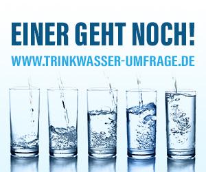 Trinkwasser Umfrage Werbebanner - Quadrat