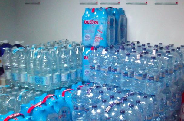 Getränkelager Wasser