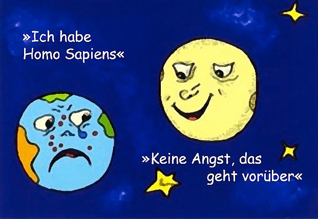 Cartoon Homo sapiens Syndrom,