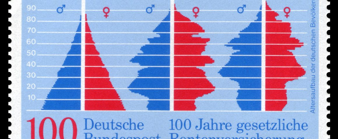 Briefmarke 100 Jahre Deutsche Rentenversicherung