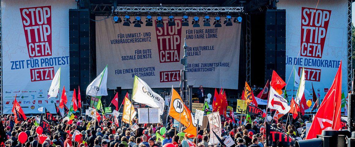 Demonstration gegen CETA und TTIP