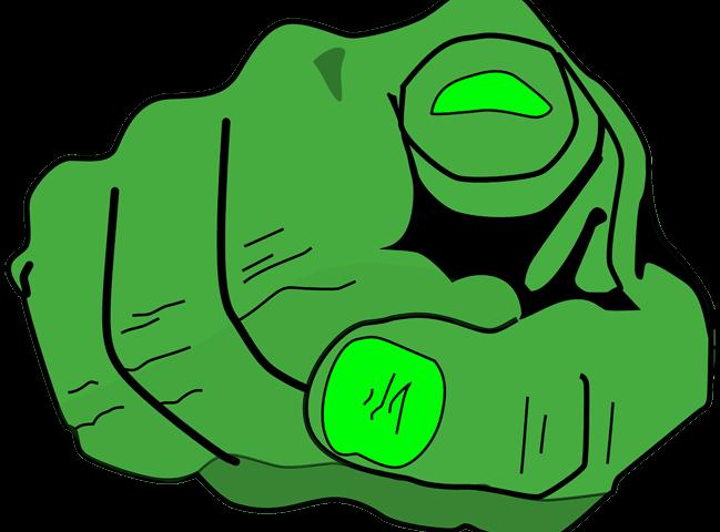 Grüner Zeigefinger