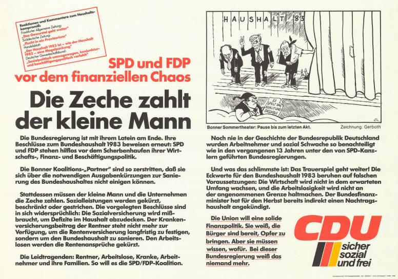 Haushaltsdebatte 1983