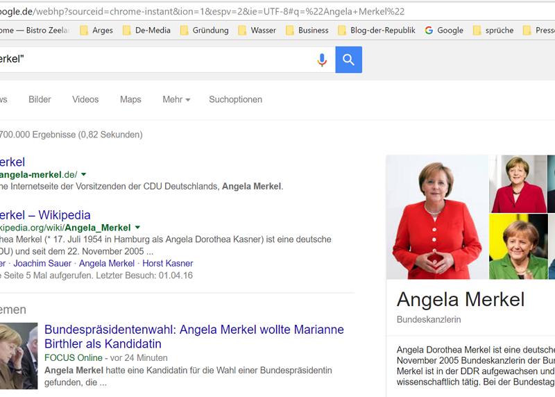 Angela Merkel bei Google