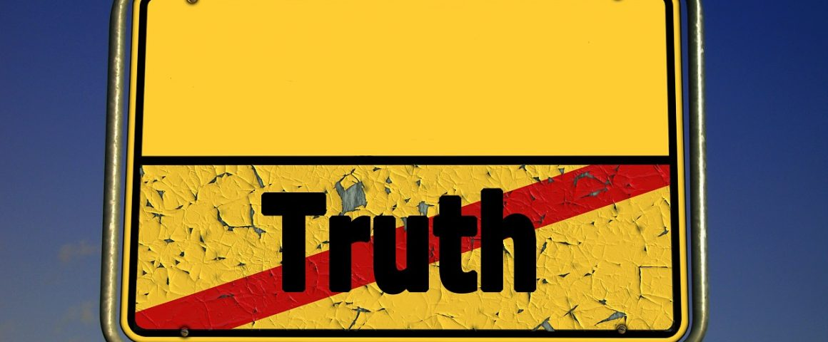 """Schild """"Ende der Wahrheit"""""""