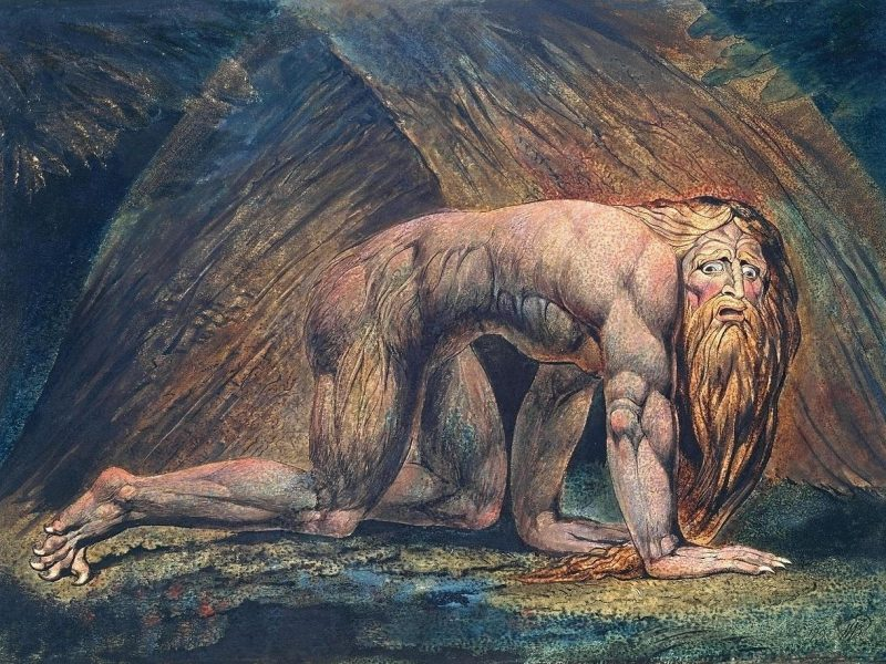 Bild von William Blake: Nebuchadnezzar