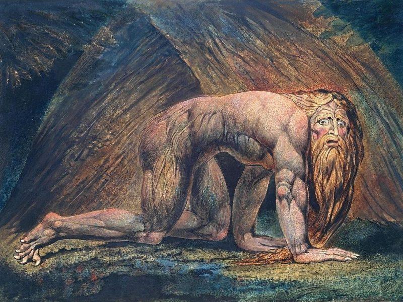 Bild von William Blake: Nebuchadnezzar