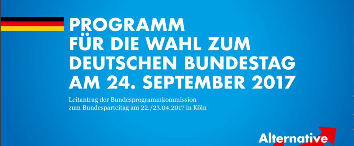AfD Entwurf Wahlprogramm