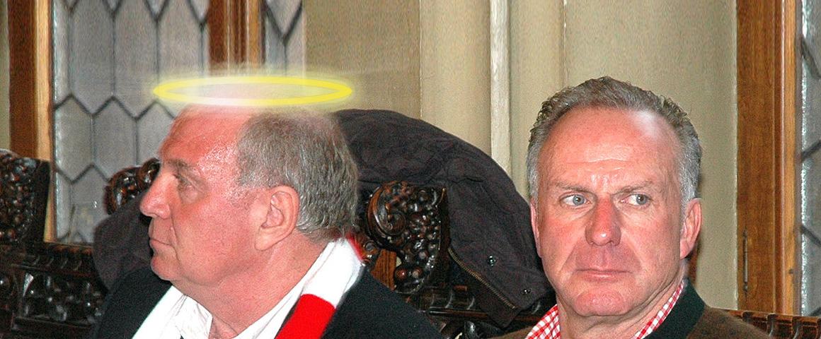 Uli Hoeneß mit Heiligenschein