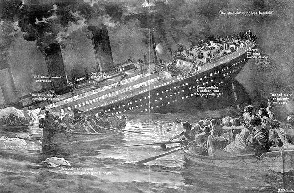 Sinkende Titanic