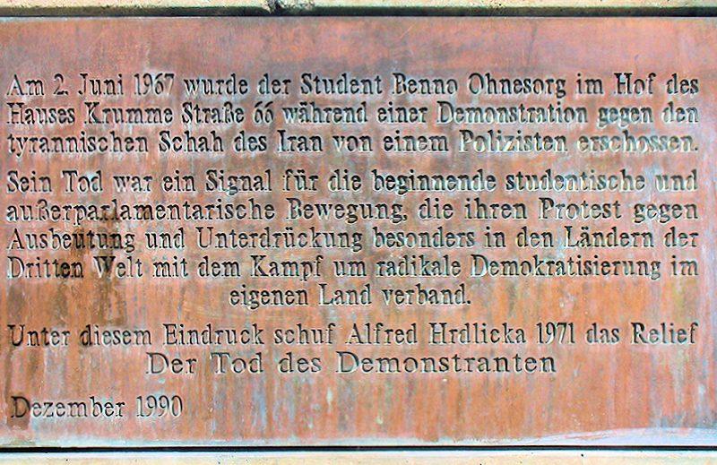 Gedenktafel für Benno Ohnesorg