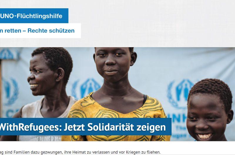 Webseite zum Weltflüchtlingstag