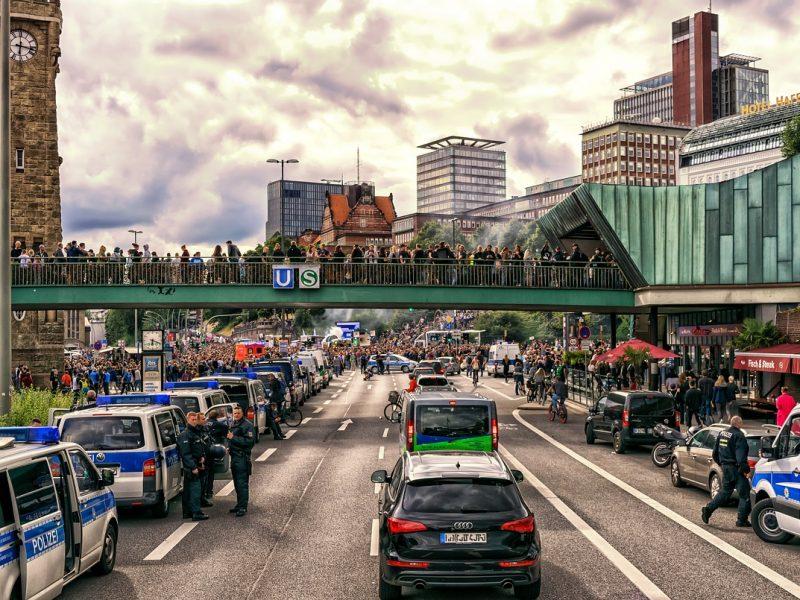 Polizeiaufgebot Hamburg G20